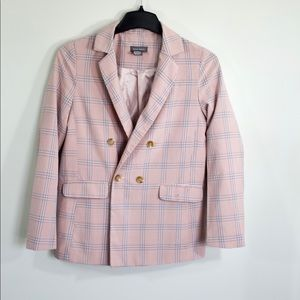 Double breasted blue and pink blazer, XS